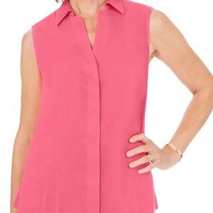 NWT Foxcroft non-iron sleeveless shirt